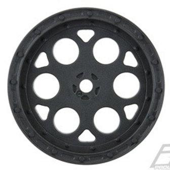 """Showtime 2.2"""" Sprint Car 12mm Hex Rear Black Wheels"""