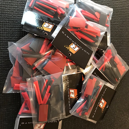 Assortment of heat shrink in different sizes red and black