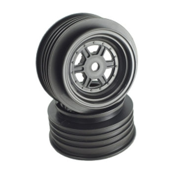 Gambler Front Wheels with 12mm Hex / AE Offset (Black)