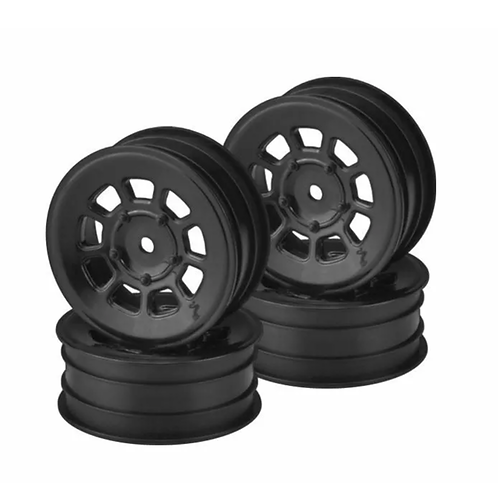 "J Concepts - 9 Shot 2.2"" Front Wheel, Black, for B6.1, YZ2, XB2, RB7, KC, 4pcs"