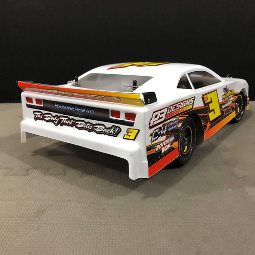 HAMMERHEAD chili bowl legal rear spoiler with OUT SIDE DAMS