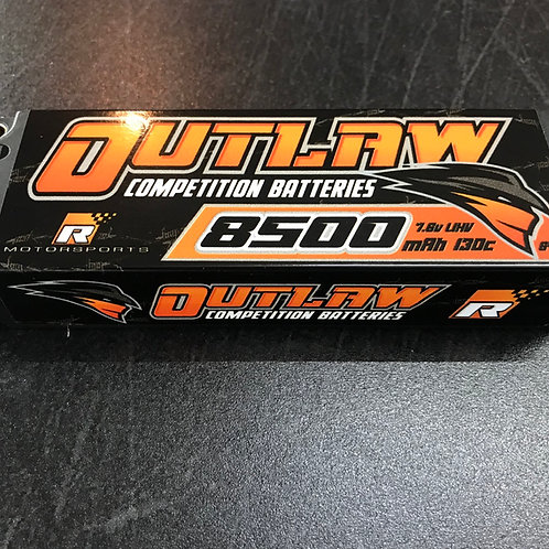 Reilley Motorsports OUTLAW 8500mAh 130c 2s LIHV Competition Battery 5mm Bullets