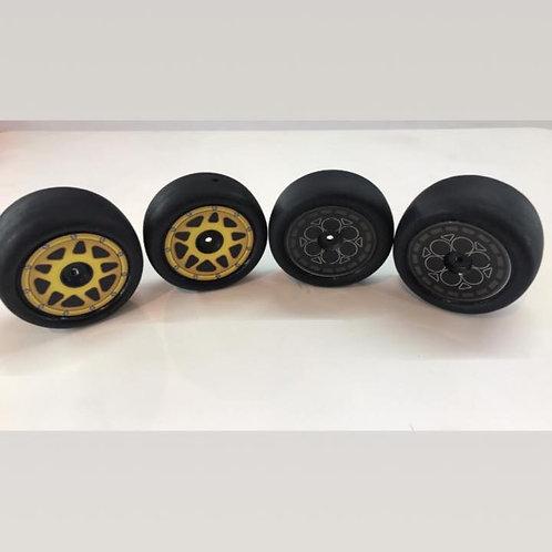 (4) 1/10 sprint car 2.2 wheel dots