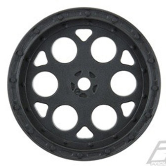 "Showtime 2.2"" Sprint Car 12mm Hex Front Black Wheels"