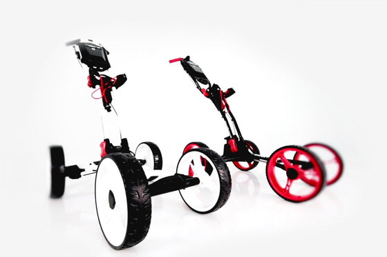 More Than Meets the Eye Introducing the World's First Auto Power-folding Golf Trolley