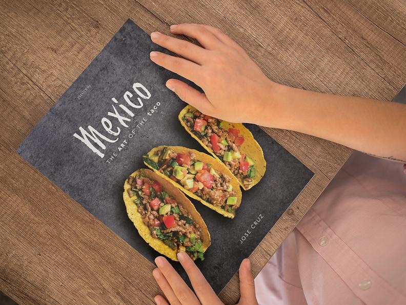 The Art of the Taco Cookbook editorial Design.