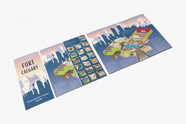 Visual map of Fort Calgary brochure.