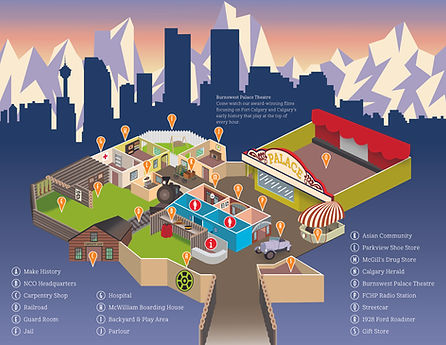Fort Calgary Map Brochure