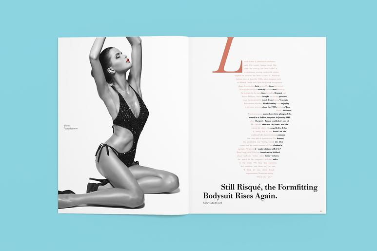 Vogue magazine spread haute fashion couture Alexi Brodovitch inspired editorial design application.