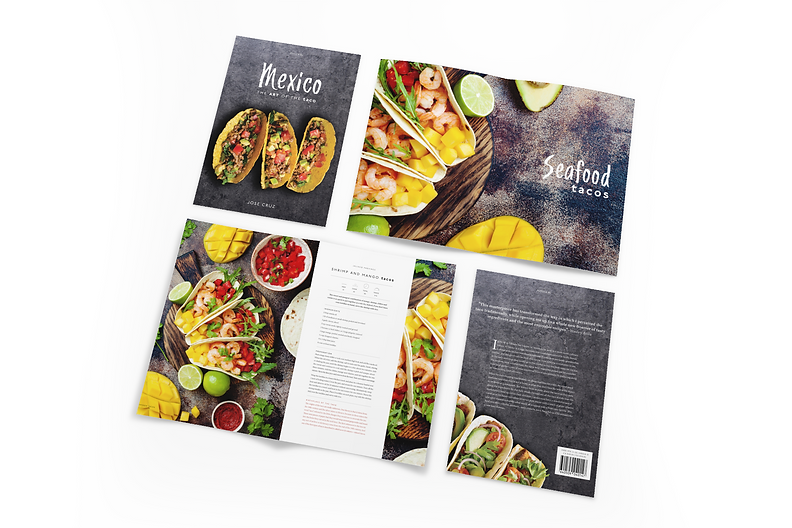 The Art of the Taco Cookbook editorial Design. Spreads and layouts.