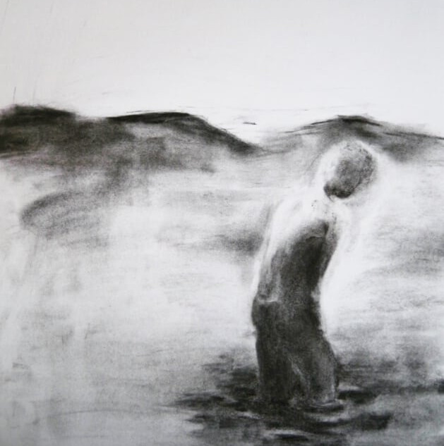 In Water I Trust. _Charcoal on paper (A2