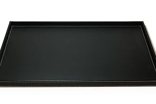 Leatherette Tray - Black