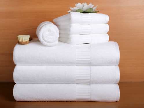 Bath Towel - 100% Cotton - White