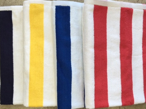 "Pool Towel - 100% Cotton - Cabana 2"" Stripe"