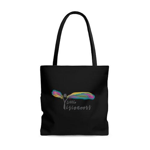 Black AOP Tote Bag