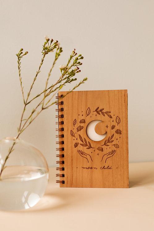 Moon Child Wood Journal