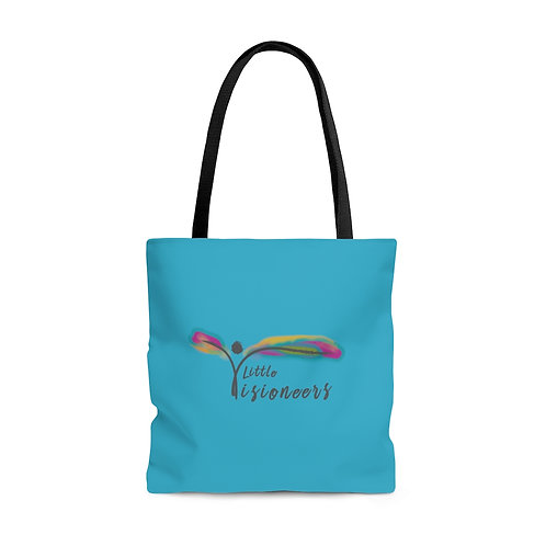 Turquoise AOP Tote Bag