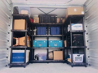 Neatly Organized Storage Unit