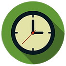Clock with hours and minutes
