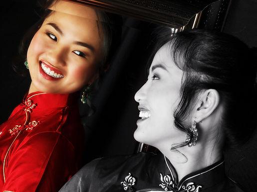 Sweet 16 beauty shots, photo, video, traditional chinese dress, Rieken Weddings 9548227273, black and white