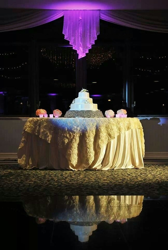 wedding cake, 3 tier, white linens, cake table, wedding, venue, photography, catering, event planner, Rieken Weddings 9548227273
