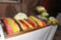 fruit display, wedding, couple, venue, photography, catering, event planner, bridal bouquet, Rieken Weddings 9548227273