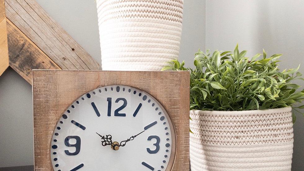 Square Wood Clock