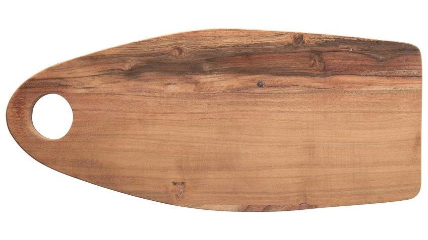 """19-3/4""""L x 8-3/4""""W Acacia Wood Tray/Cutting Board w/ Handle"""