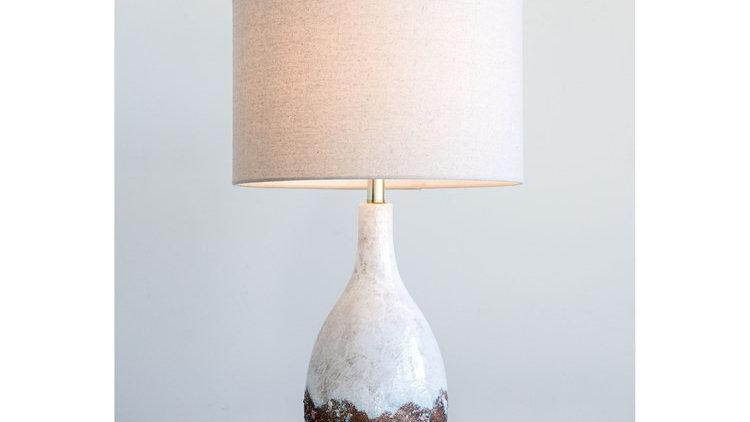 Ceramic Table Lamp w/ Linen Shade