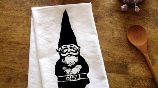 Garden Gnome Kitchen Towel