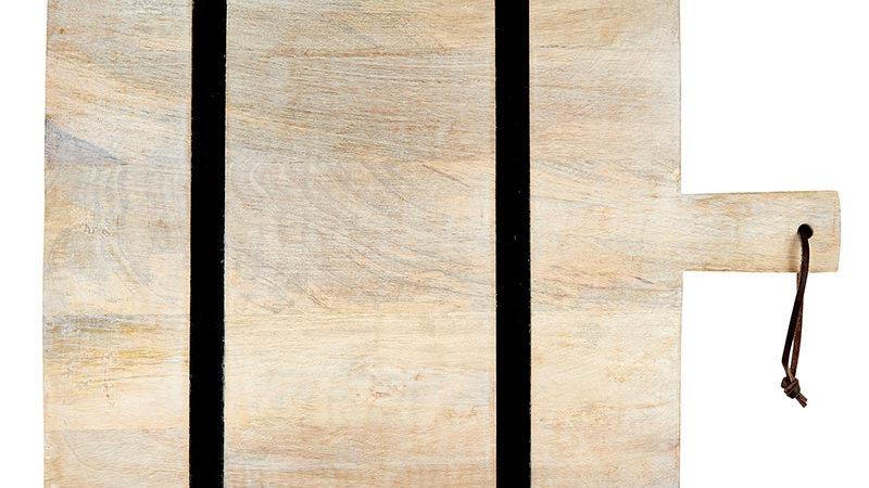 Natural + Black Stripe Cutting Board - Square
