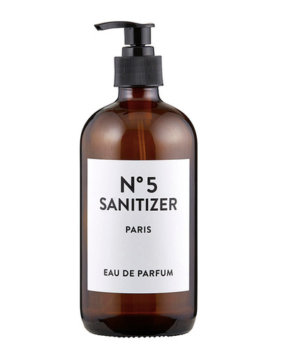 Shop Sanitizer Bottle with Pump - Amber or Blue from JBD Decor on Openhaus