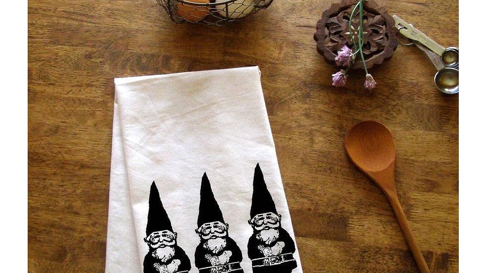 Garden Gnome Trio Kitchen Towel