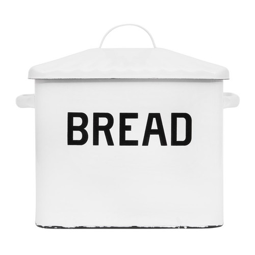 """Shop Enameled Box """"Bread"""" w/ Lid, Distressed White from JBD Decor on Openhaus"""