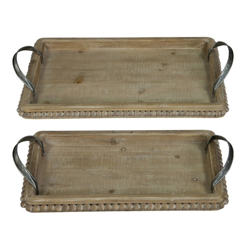 Shop Beaded Tray Set of 2 from JBD Decor on Openhaus