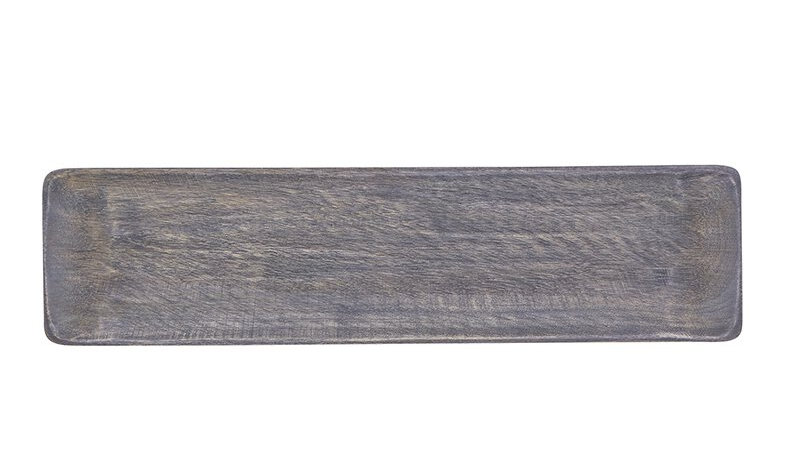 Long Tray - Grey mango wood