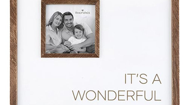 12x12 Photo Frame - Wonderful Life