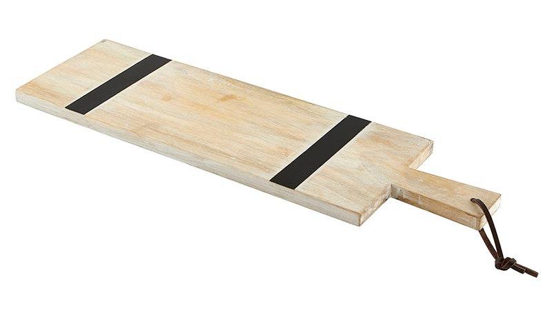 Natural +  Black Stripe Cutting Board - Rectangle
