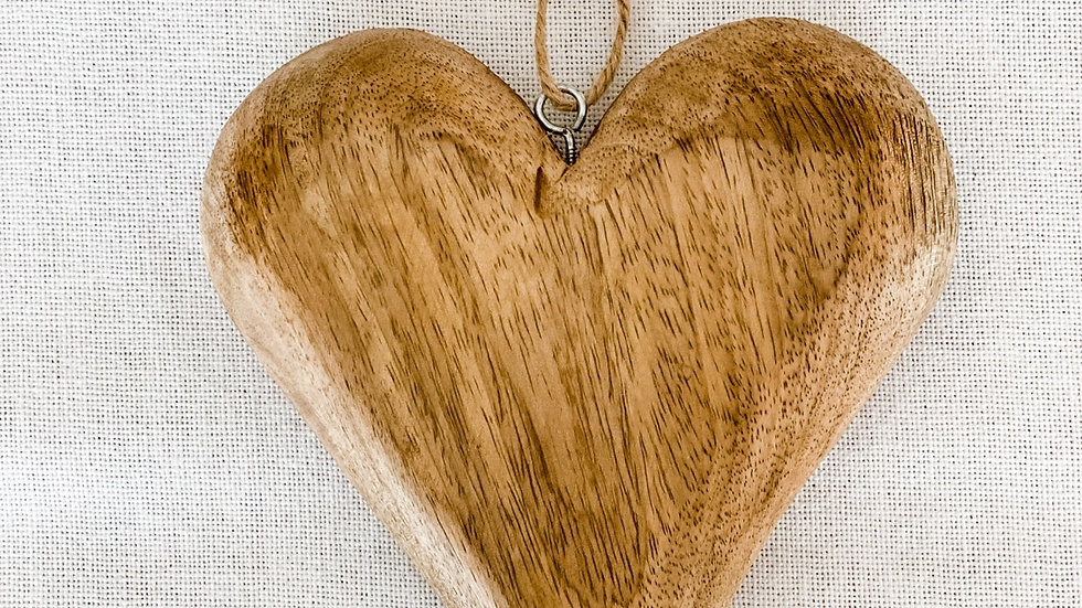 "Wooden Heart - Brown  7"" x 5.5"" x 1"""