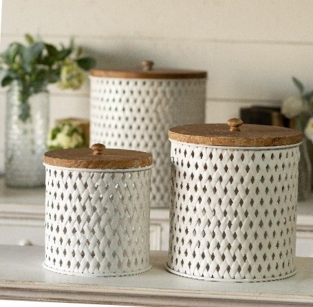 Shop Woven Canisters Set of 3 from JBD Decor on Openhaus
