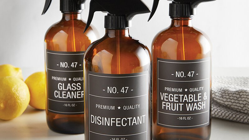 Glass Spray Bottle - Amber