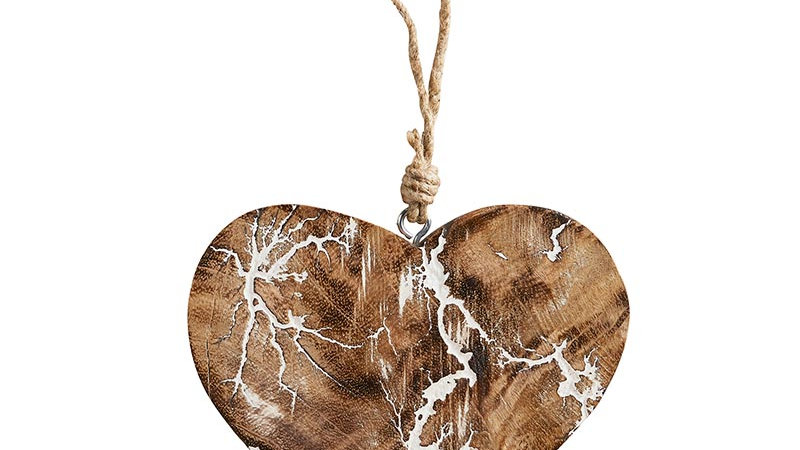 Wood Décor - Crackle Heart