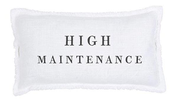 Lumbar Pillow - High Maintenance - With Duck Feather Insert