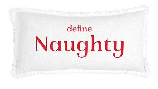 Define Naughty  Lumbar Pillow