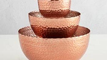 Copper Bowls - Set of 3