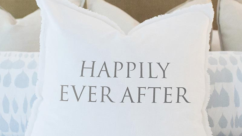 Euro Pillow - Happily Ever After - With Duck Feather Insert