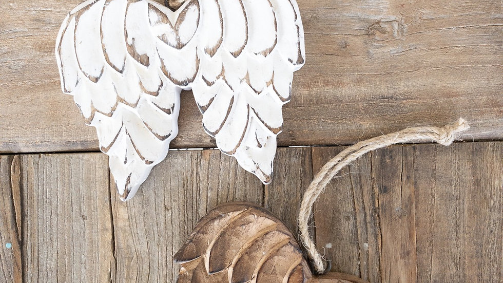 Wooden Wing Ornament