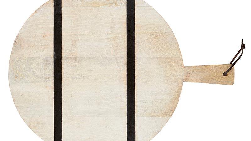 Natural +  Black Stripe Cutting Board - Round
