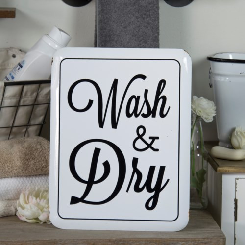 Shop Wash and Dry Metal Sign from JBD Decor on Openhaus