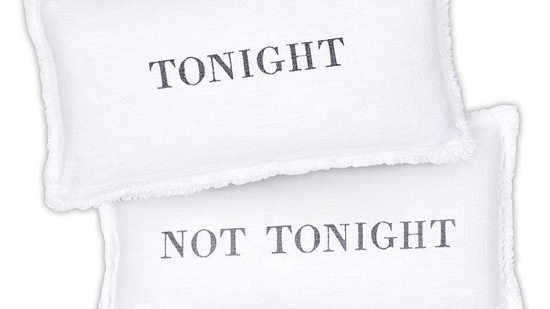 Lumbar Pillow - Tonight/Not Tonight - With Duck Feather Insert